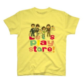 Let's play store!(両面印刷) T-shirts