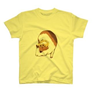 ミモザの花かんむりとモルモット T-shirts