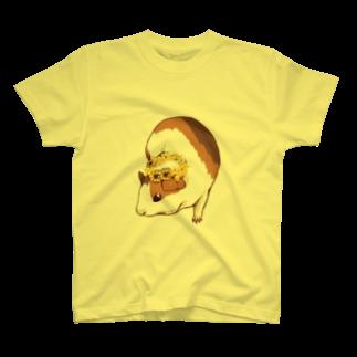 Lichtmuhleのミモザの花かんむりとモルモット T-shirts