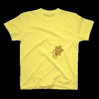 素材屋405番地のゲシゲシ!ウゲロくま T-shirts