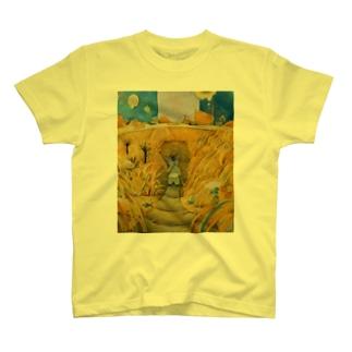 黄金の穂が揺れる頃 T-shirts