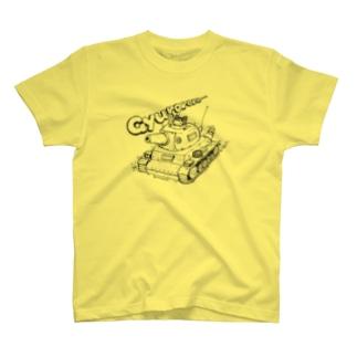 ネコ戦車 T-shirts