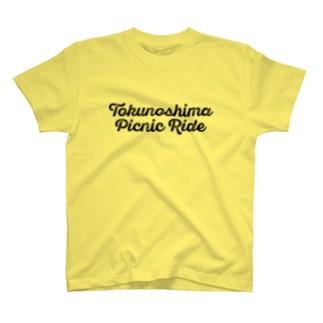 Tokunoshima Picnic Ride (黒ロゴ) T-shirts