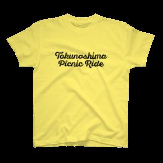 seiji takezoeのTokunoshima Picnic Ride (黒ロゴ) T-shirts