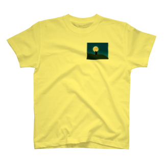 キャッツハンド:suzuriショップの月夜猫 T-shirts