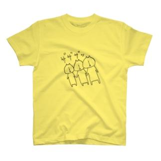 ネコA・B・C が あらわれた! T-shirts