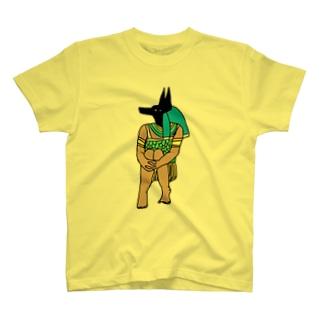 体育座りアヌビスTシャツ/iPhoneケース/バック T-shirts