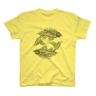 壷屋焼風双魚文 T-shirts