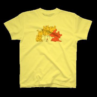 shirokumasaanのしろくまだらけ 赤1 T-shirts