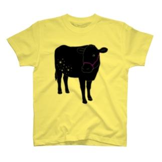 黒毛和牛 キラキラ2 T-shirts