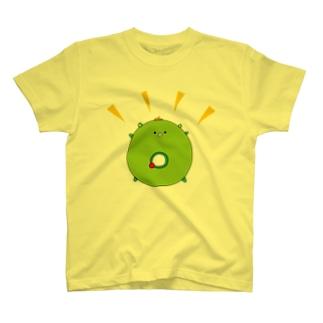 太陽イメージで、イッちゃんこと大崎一番太郎くんを描きましたが、犬山パッパがドーナツと言ってくださったので、これはもう大崎ドーナツ太郎です★ T-shirts