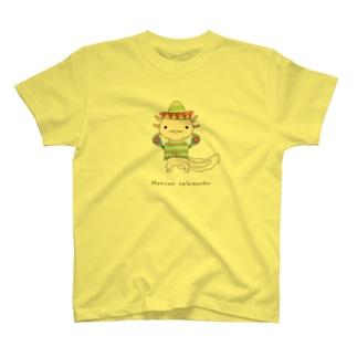 メキシコサラマンダーなウーパールーパー T-shirts