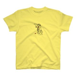 寝支度のアナグマ T-shirts