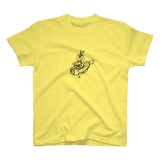 巣穴寝室のアナグマ T-shirts
