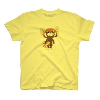"""大耳のレッサーパンダ """"悔しさ噛み締め"""" T-shirts"""