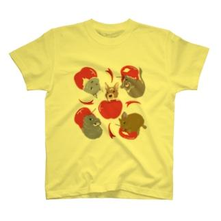 デグーとりんご T-shirts
