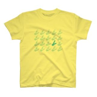 爪人Tシャツ(咲良デザインver.4<青ベース>) T-shirts