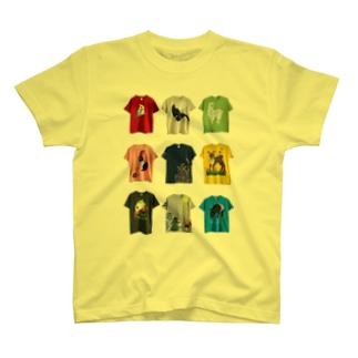 絵柄見本みたいな T-shirts