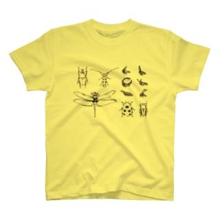 昆虫図鑑 T-shirts