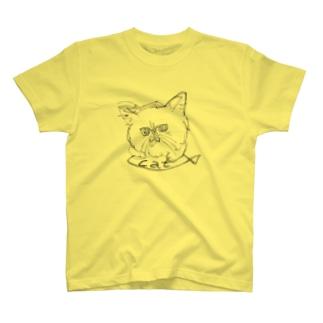 猫に魚 T-shirts