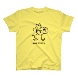 ema-emama『ぷくぷくリス』 Tシャツ