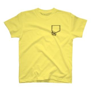 わたぼこりフェイクポケットT T-shirts