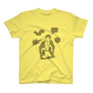 落語 Gray T-shirts