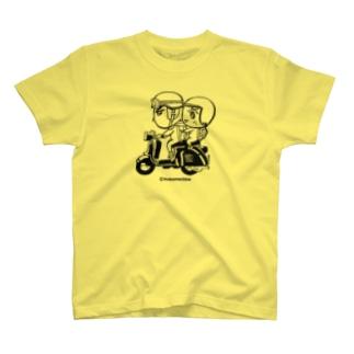 mixbo shopのカッパつ野郎(スクーター黒) T-shirts