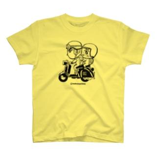 カッパつ野郎(スクーター黒) T-shirts