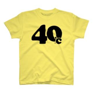 40℃シンプルロゴtシャツ(黒文字) T-shirts
