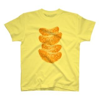 みかんがいっぱい!面白おかしい果物グッズ T-shirts