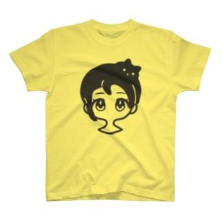 クロネコアタマ T-shirts