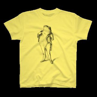 古書 天牛書店のグランヴィル「蛙」 <アンティーク・プリント> T-shirts