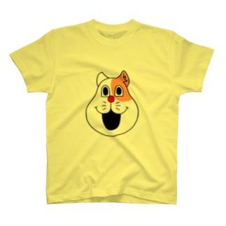 ネコやん(顔だけver.) T-shirts