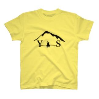 YSダブルドロップニー-ブラック Tシャツ