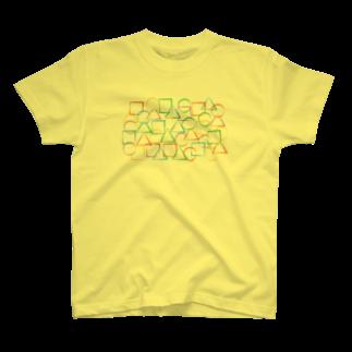 a-noの○△□カラフル T-shirts