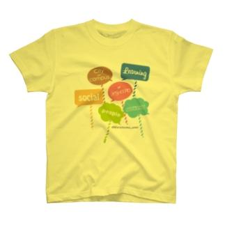 カラフルメッセージ T-shirts