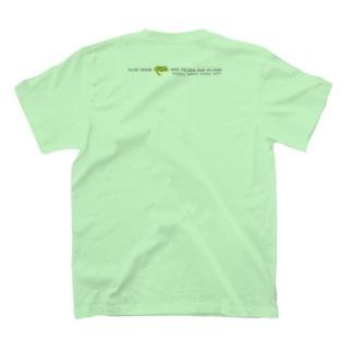 しまのなかまSLOW ヤエヤマアオガエル バックプリント T-shirts