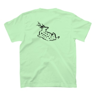 ゆったりblue deer T-shirts