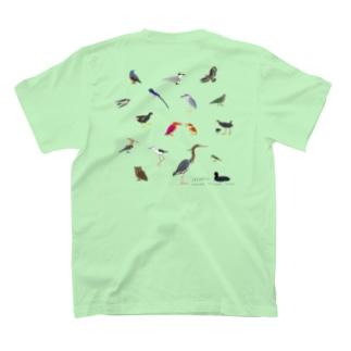 【バックプリント】しまのなかま鳥類16(正方形展開) T-shirts