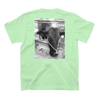 背後の雌牛 T-shirts