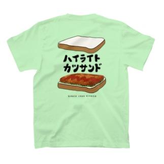 [DELI BALI] X [ハイライトカツサンド] Wネーム T-shirts