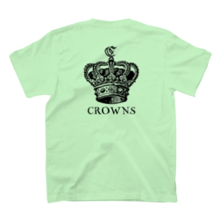 CROWNSTシャツ(黒文字) T-shirts