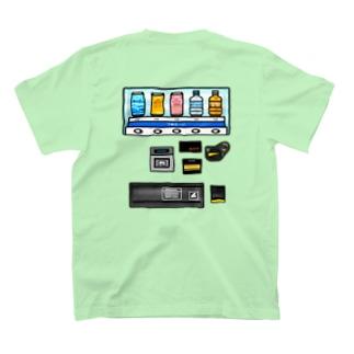 【バックプリント】 つめた〜い 自動販売機 T-shirts