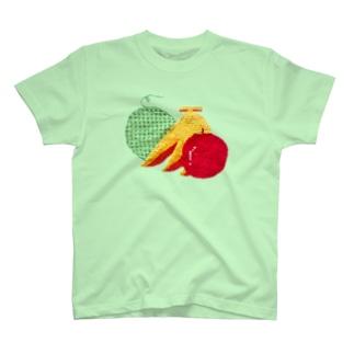 さぶクロスステッチフルーツ T-shirts