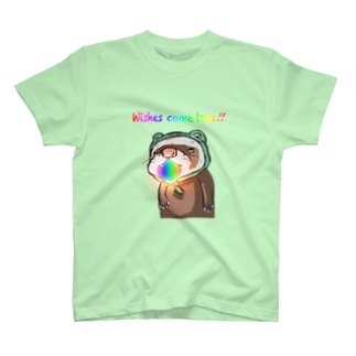願い珠フェレット  T-shirts