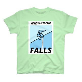 『洗面所の滝(カラフル)』 T-shirts