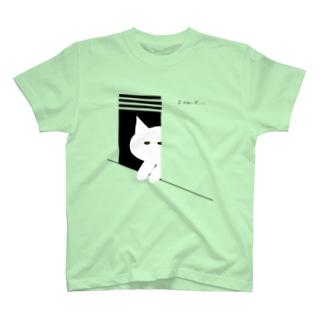ネコは見ていた T-shirts