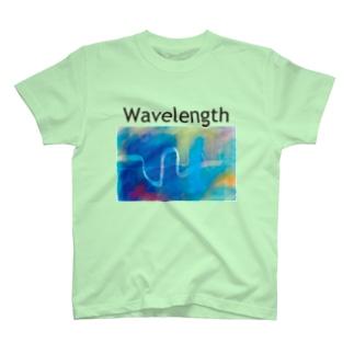 波長T(黒文字バージョン) T-shirts