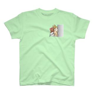 TAKUMIのもっちゃん、メガネロップさん、うさ美、店長 T-shirts